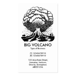 Volcán grande - blanco plantillas de tarjeta de negocio