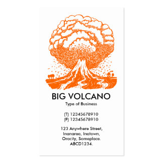 Volcán grande - naranja tarjeta de visita