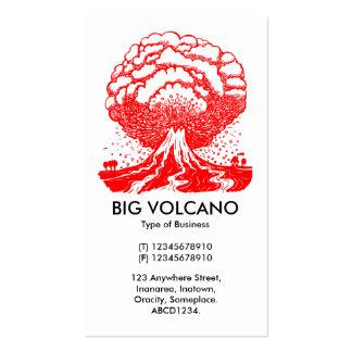Volcán grande - rojo plantilla de tarjeta personal