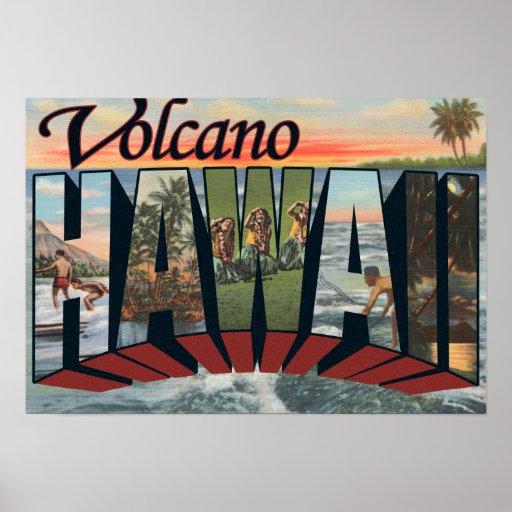 Volcán, Hawaii - escenas grandes de la letra Poster