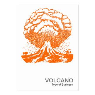 Volcán - naranja tarjeta de negocio