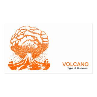 Volcán - naranja tarjetas de negocios