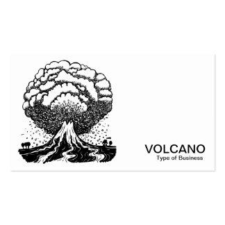 Volcán - negro en blanco tarjetas de visita