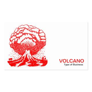 Volcán - rojo tarjeta de visita
