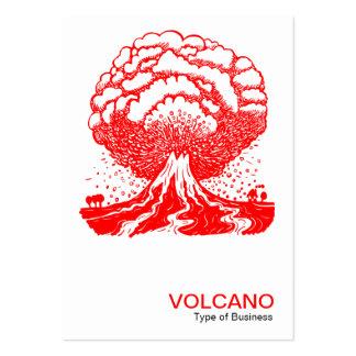 Volcán - rojo plantillas de tarjeta de negocio