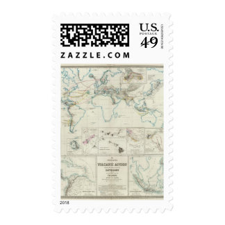 Volcanic action postage stamp