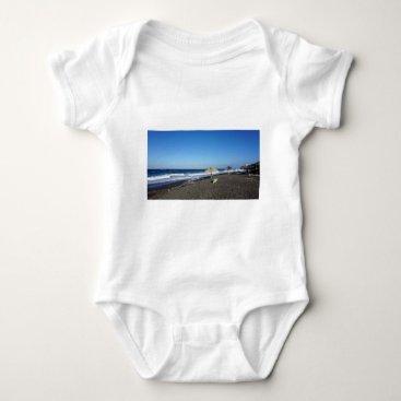 Beach Themed volcanic beach baby bodysuit