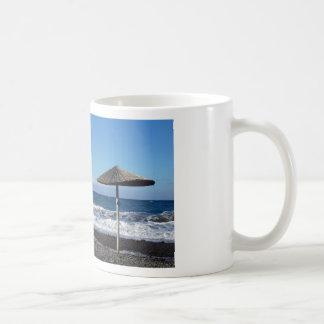 volcanic beach coffee mug