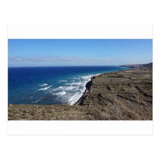 volcanic beach postcard