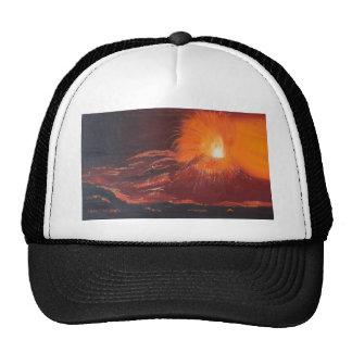 Volcanic eruption trucker hat
