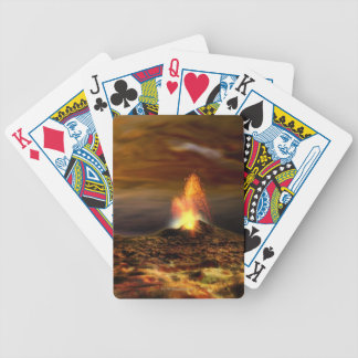Volcanic Eruption on Io Bicycle Playing Cards