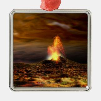 Volcanic Eruption on Io Metal Ornament