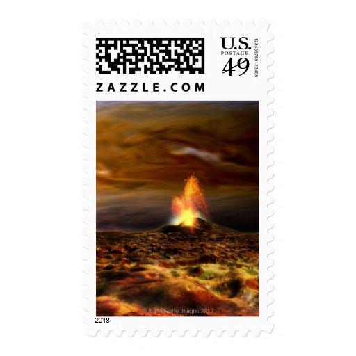 Volcanic Eruption on Io Postage Stamps