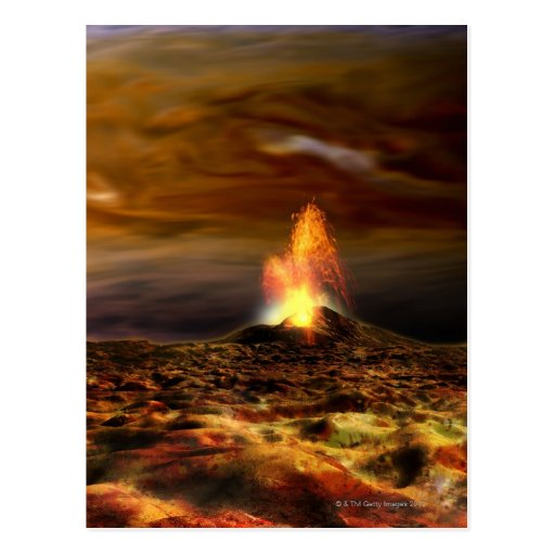 Volcanic Eruption on Io Postcard