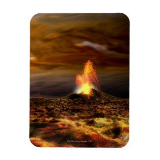 Volcanic Eruption on Io Vinyl Magnet