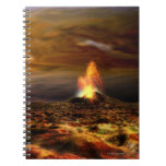 Volcanic Eruption on Io Spiral Note Books