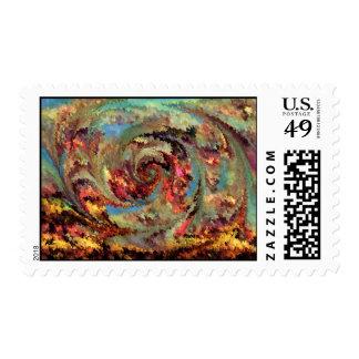 Volcanic eruption postage stamp