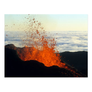 Volcanic eruption postcard