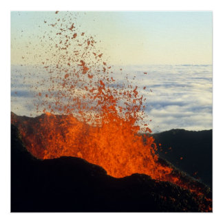 Volcanic eruption poster
