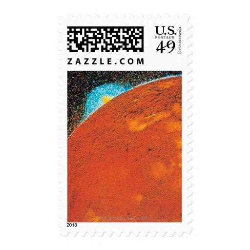 Volcanic Explosion on Io Postage Stamp