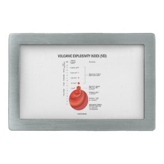 Volcanic Explosivity Index (VEI) Geology Volcano Rectangular Belt Buckle