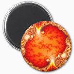 Volcanic Garden - Fractal art Magnet
