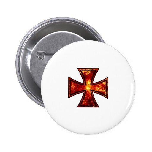 Volcanic Iron Cross Pinback Buttons