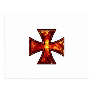 Volcanic Iron Cross Postcard