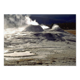 Volcanic land, Upper Geyser Basin, Yellowstone Nat 5x7 Paper Invitation Card