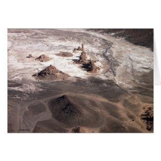 Volcanic Landscape and salt Card
