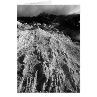 Volcanic landscape card