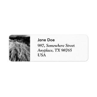 Volcanic landscape label