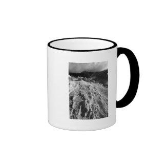 Volcanic landscape ringer coffee mug
