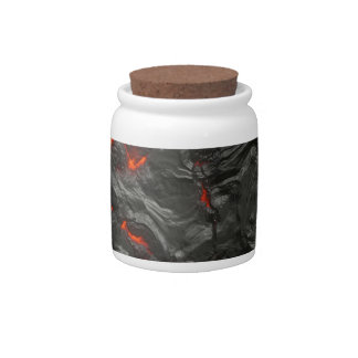 volcanic Lava background effect Candy Jars