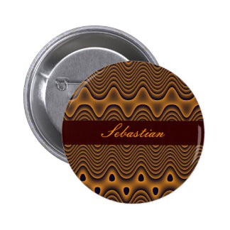 Volcanic Oceans Patterned Custom Name Button