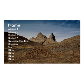 Volcanic plugs showing fluting, Algeria Desert Business Card Template
