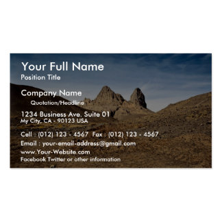 Volcanic plugs showing fluting, Algeria Desert Business Card