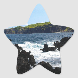 Volcanic rocks on coast of Maui Star Sticker