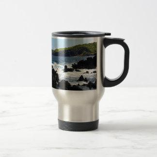 Volcanic rocks on coast of Maui Travel Mug