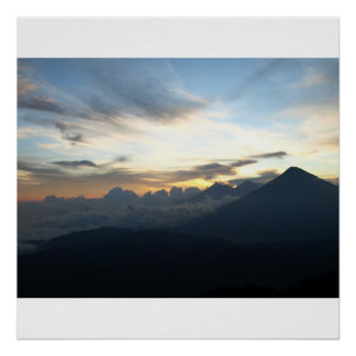 Volcanic Sunset Poster