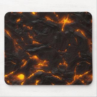 Volcánico anaranjado amarillo del flujo de lava y mouse pad