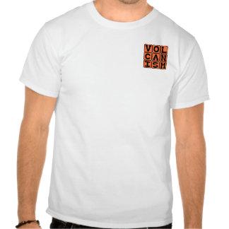 Volcanismo, erupción de la roca fundida camisetas