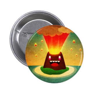 Volcano ***//// 2 inch round button