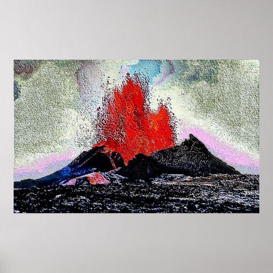 Volcano 7 enamel poster
