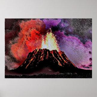 Volcano 9 enamel poster