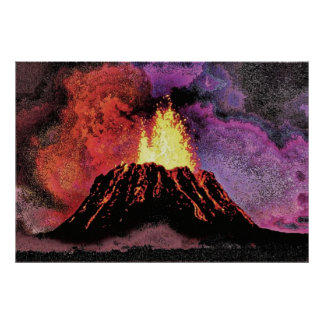 volcano 9 sketch faa poster