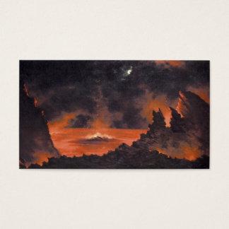 Volcano at Night, ca. 1880s Hawaii Business Card