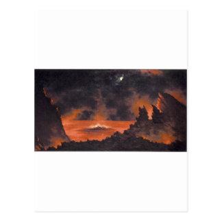 Volcano at Night, ca. 1880s Hawaii Postcard