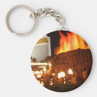 Volcano Basic Round Button Keychain