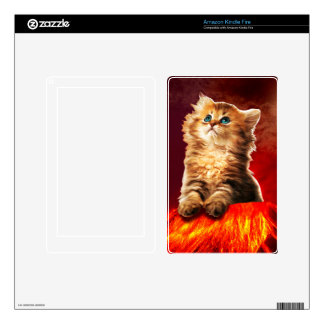 volcano cat ,vulcan cat , decals for kindle fire